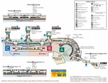 Terminal Map of Reagan National Airport