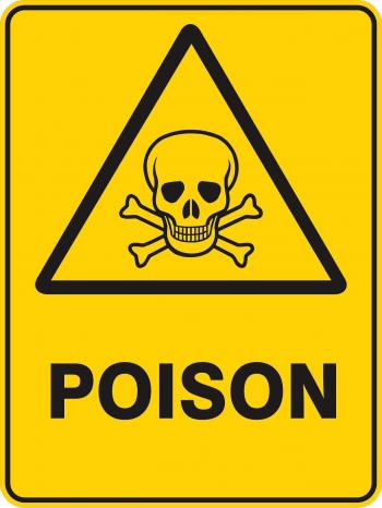 warning poison sign