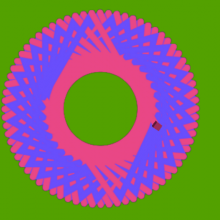 Screen shot of spirograph image created by StarLogo Nova model