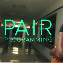 Screen capture of Code.org pair programming video