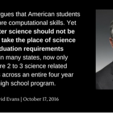 image of David Evans and quote