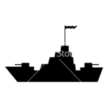 image of battleship by https://www.vectorstock.com
