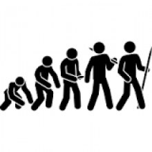 Image of evolution from thenounproject.com