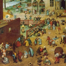 "Painting, ""Children's Games"" by Pieter Bruegel the Elder"