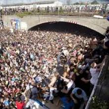 Photo of Love Parade stampede in Germany, 2010, from www.telegraph.co.uk