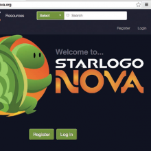 StarLogo Nova 2.0 Splash screen