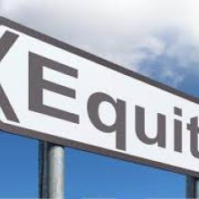 "Image of sign that says ""equity"""
